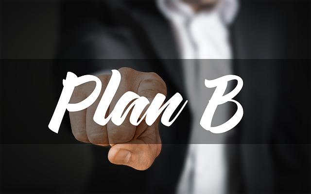 prst ukazující plán B